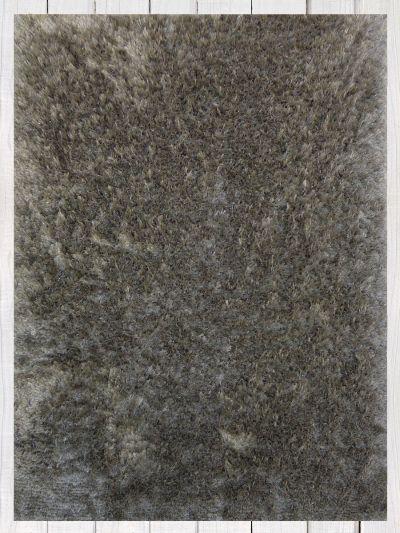 Carpetmantra Polyester Grey Shaggy 5.9ft X 7.11ft