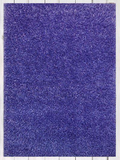 Carpetmantra Stick Violet Shaggy 4.6ft X 6.6ft
