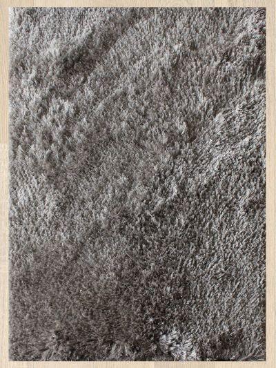 Carpetmantra Grey Polar shaggy 4.6ftX6.6ft