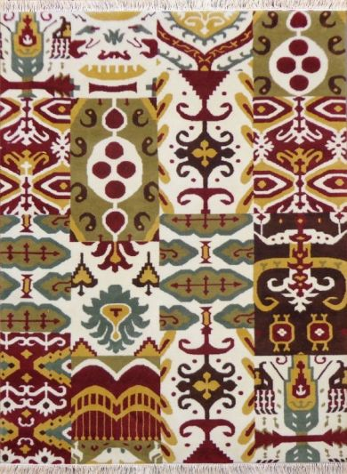 Hand Knotted Carpet 5.5ft X 7.6ft