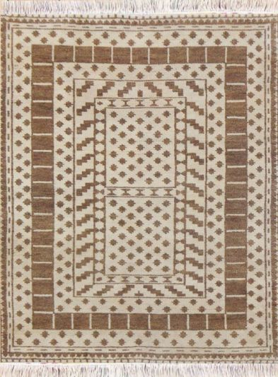 Hand Knotted Moroccan Carpet 4.3ft X 6.3ft