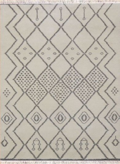 Hand Knotted Moroccan Carpet 4.6ft X 6.6ft