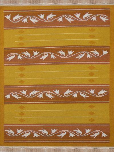 Carpetmantra Flatweave Durrie Carpet 4.6ft x 6.6ft 70172