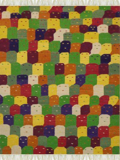 Carpetmantra Flatweave Kilim Durrie Carpet 5.7ft x 7.10ft