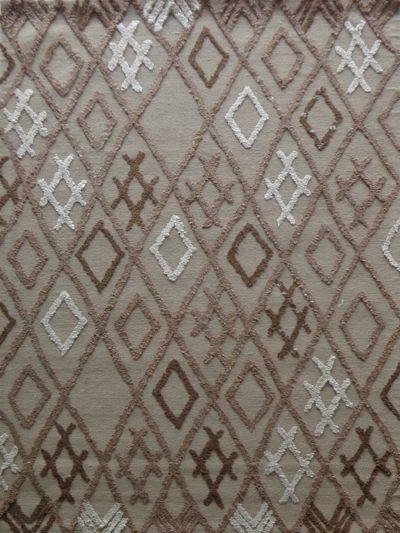 Carpetmantra  Durrie Carpet Wool  Viscose 4.6 x 6.6