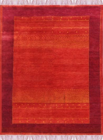 Carpetmantra Hand Knotted Gabbeh Carpet 5.4ft X 8 ft