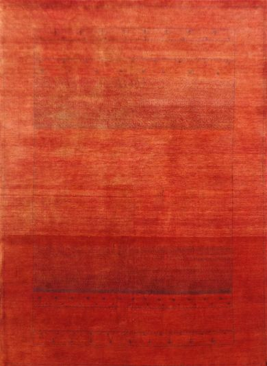 Carpetmantra Hand Knotted Gabbeh Carpet 5.4ft X 8.0ft