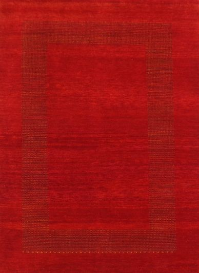 Carpetmantra Hand Knotted Gabbeh Carpet 3.9ft X 5.9ft