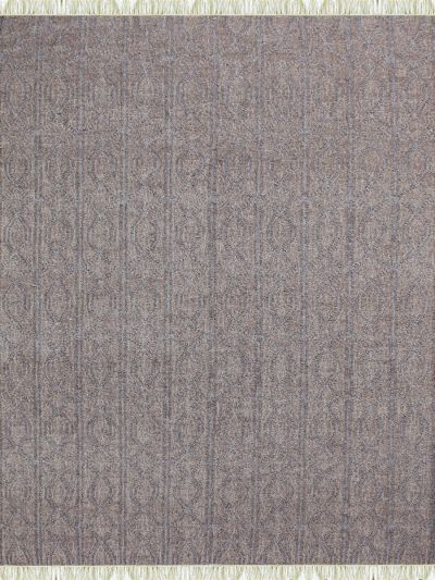 Carpetmantra Flatweave Grey Durrie Carpet 5.5ft x 7.8ft