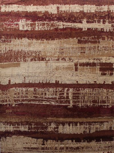 Carpetmantra Maroon Abstract Carpet 5.3ft X 7.7ft