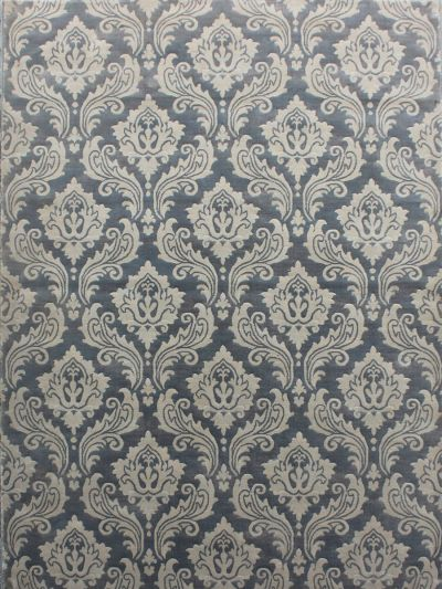 Carpetmantra Floral Grey Carpet 5.3ft X 7.7ft