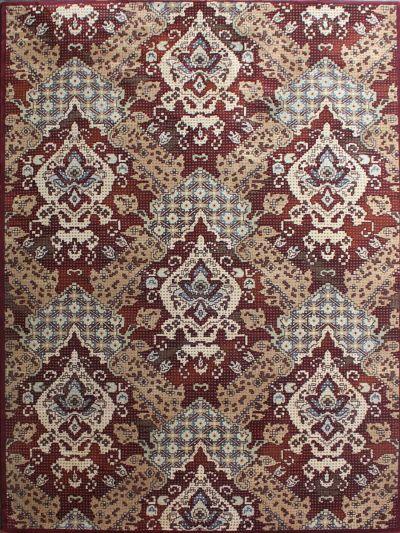 Carpetmantra Red Designer Carpet 5.3ft X 7.7ft