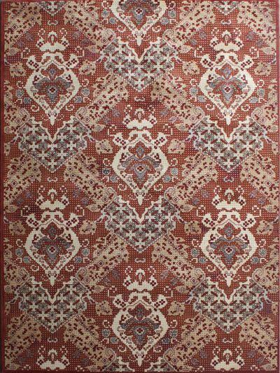 Carpetmantra Transitional  rust Carpet 5.3ft X 7.7ft