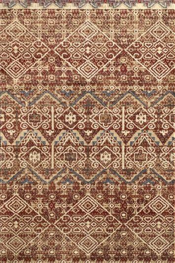 Carpetmantra Designer rust Carpet 2.8ft X 4.11ft